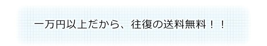 一万円以上だから、往復の送料無料!