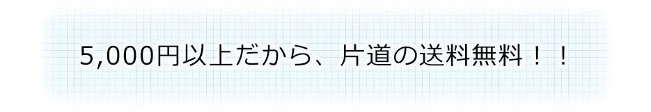 5,000円以上だから、片道の送料無料!!